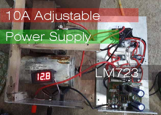Lm338 Adjustable Power Supply Circuit Schematic Diagram