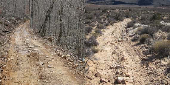 2 FSR Highly Eroded, Mainly Jeep Trails