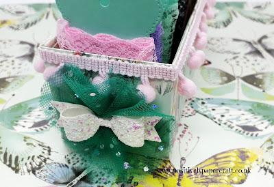 positivelypapercraft ribbon storage box