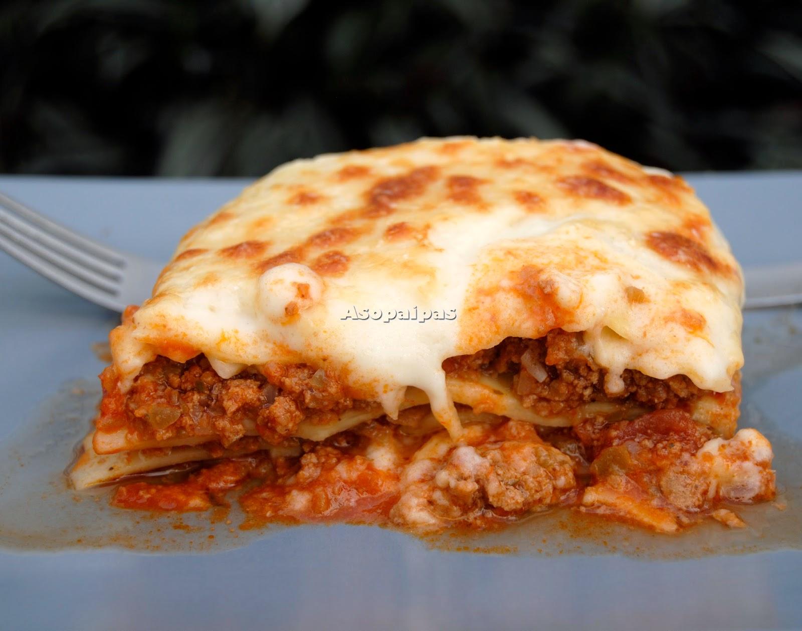 Lasaa de Carne Picada con Zumaque Receta  Asopaipas
