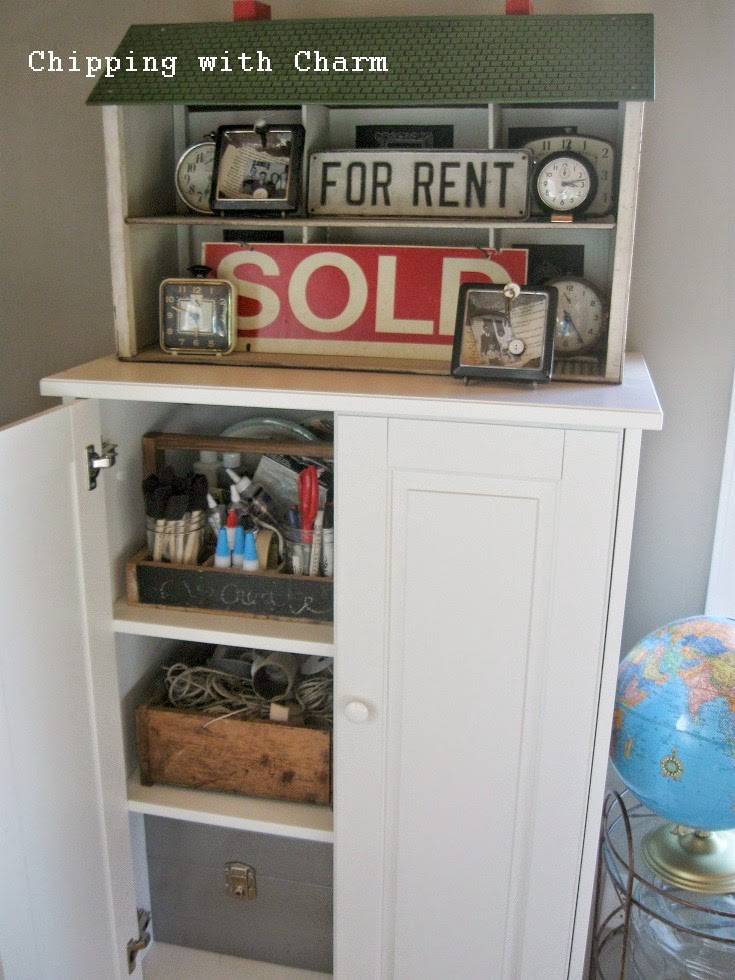 Chipping with Charm: Repurposed Dollhouse Shelf...http://www.chippingwithcharm.blogspot.com/