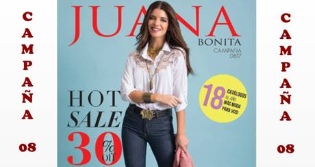 juana bonita catalogo agosto 2017