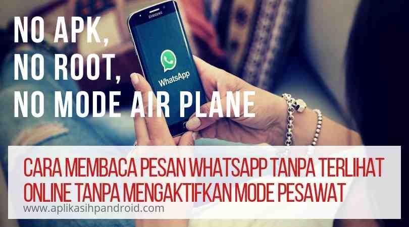 Tips Rahasia Membaca Pesan Whatsapp Agar Tak Terlihat Online (no mode pesawat)