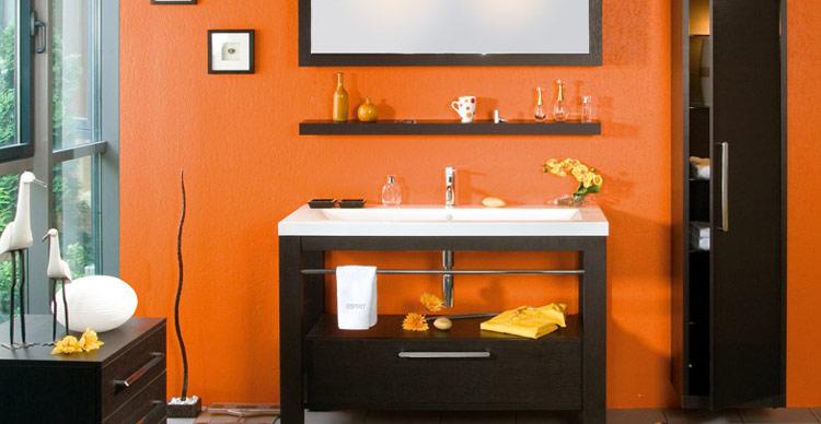 decora o nas cores laranja e preto. Black Bedroom Furniture Sets. Home Design Ideas