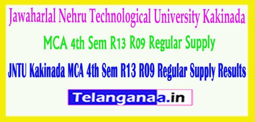 JNTU Kakinada MCA 4th Sem R13 R09 Regular Supply 2018 Exam Results
