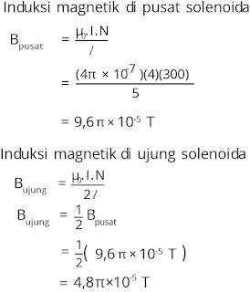 Jawaban soal fisika tentang medan magnetik nomor 4