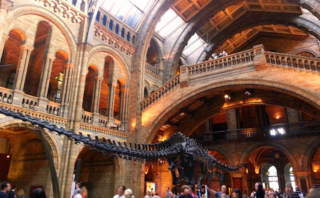 dinosaurie på Naturhistoriska museet i London