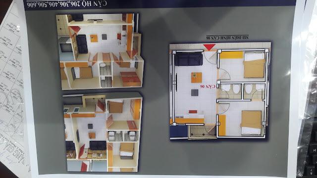 Mặt bằng căn hộ trục số 6 chung cư mini Vĩnh Phúc