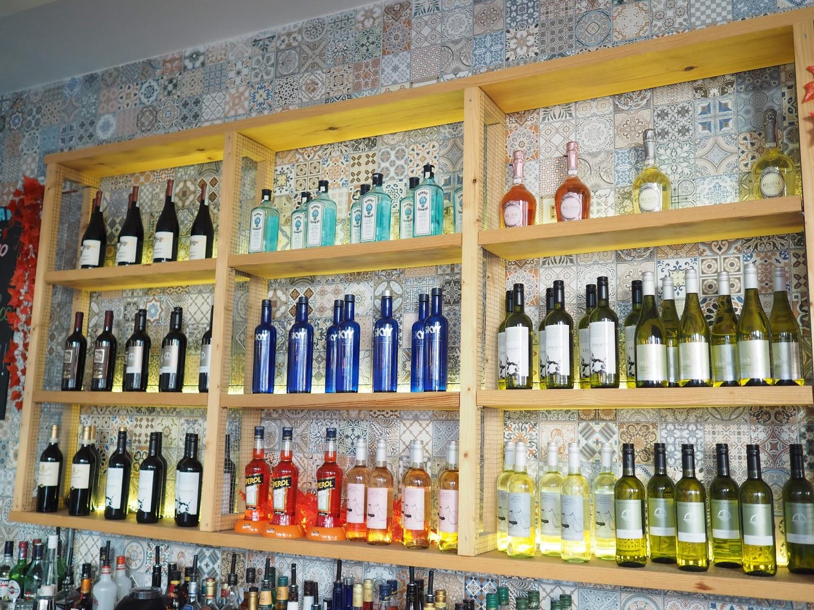 Bar at Nu Posto, Brighton