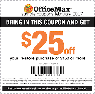 Office Max coupons february 2017