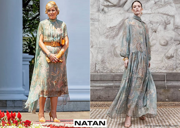 Queen Maxima wore Natan'Edouard Vermeulen silk dress from Natan Spring Summer 2020 collection