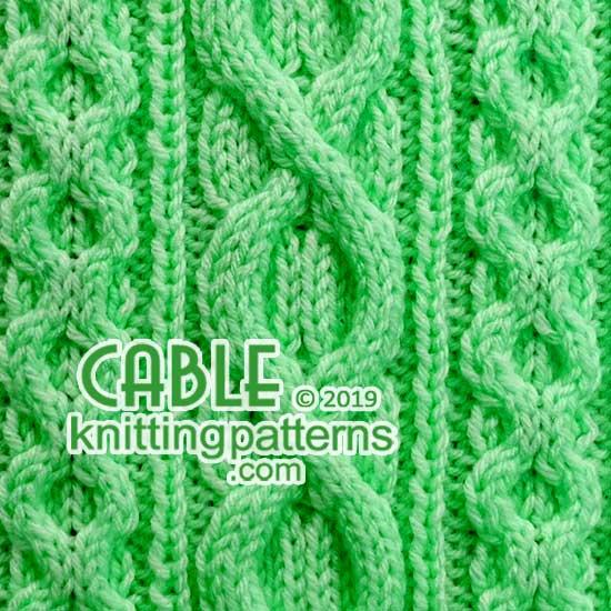 Cable Knitting Pattern 60 - Cable Knitting Patterns