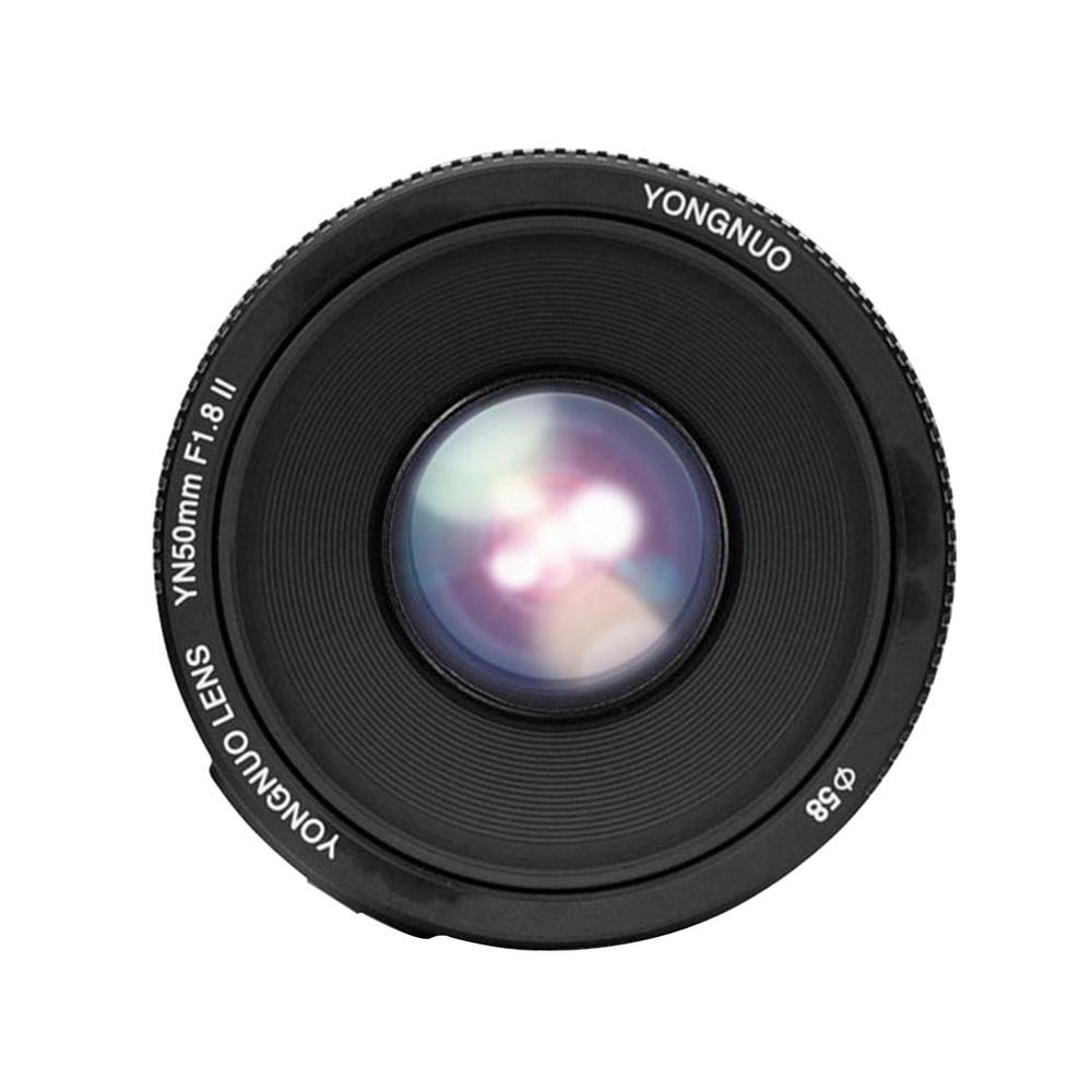 Объектив Yongnuo YN 50mm f/1.8 II, вид спереди