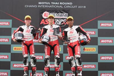Afridza Raih Podum 3 di Race 2 ATC Buriram 2018