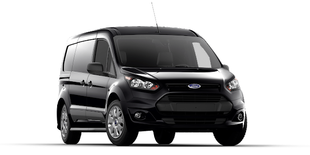 2017 Ford Transit Connect van black