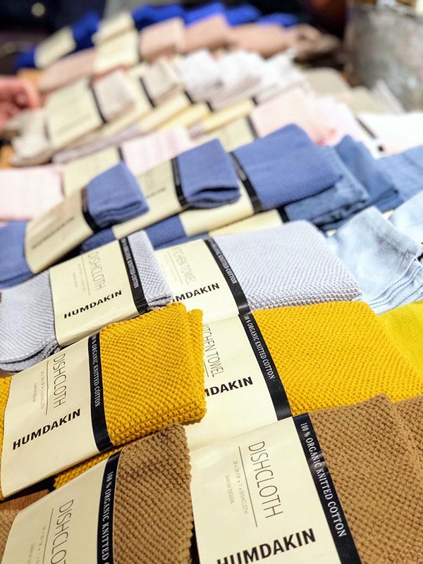 Wunderschöne Lappen in tollen Farben von Humdakin - organic knitted cotton dishcloth