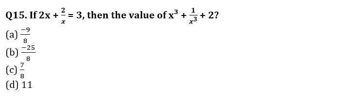Algebra Questions for SSC CGL TIER-2 , SSC Stenographer & IB (ACIO) 2017_340.1