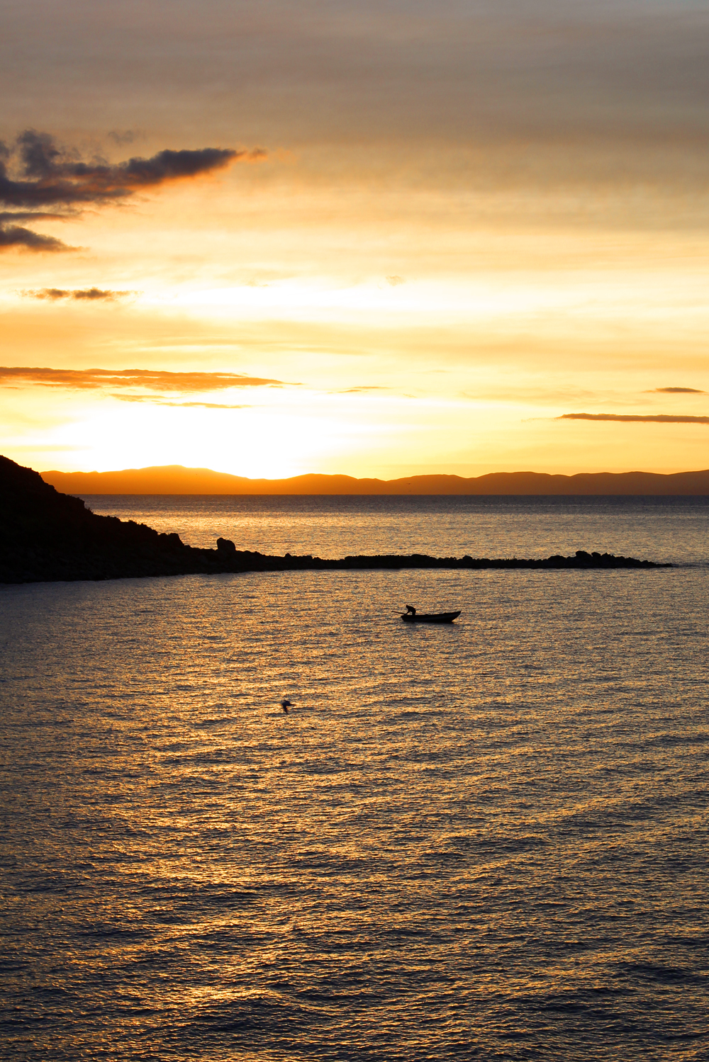 Sunrise on Lake Titicaca, Peru - South America travel blog