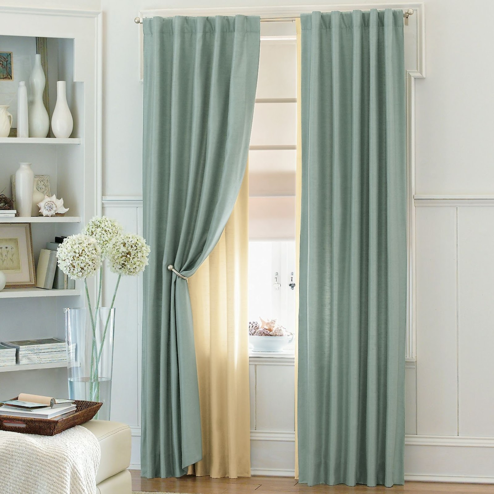 interior design idea how to choose the color of the curtain. Black Bedroom Furniture Sets. Home Design Ideas