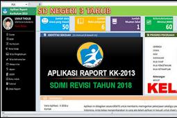 Aplikasi Cetak Raport K13 Kelas 1 Semester 2 Revisi 2018