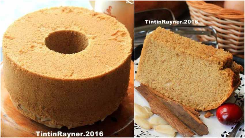 Resep Chiffon Cake Cinnamon Kenari Yang Harum dan Lembut