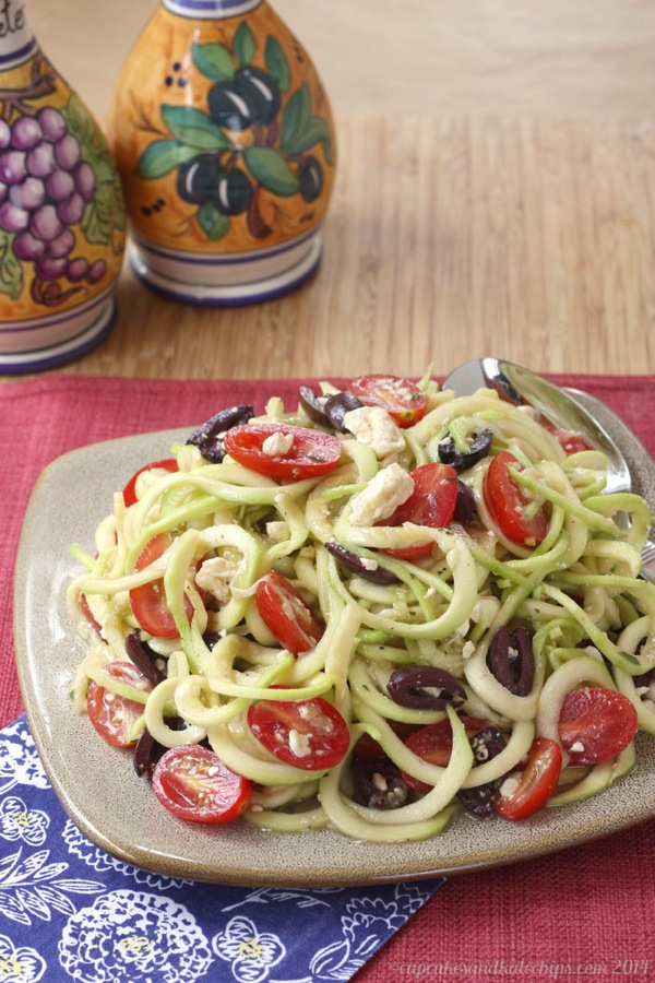 20 Amazing Low-Carb Salads with Zucchini found on KalynsKitchen.com