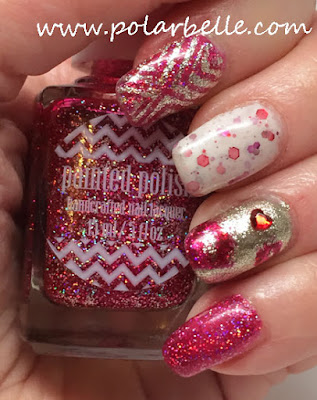 nail art, metallic, holographic