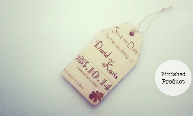 Wooden Rustic Save The Date