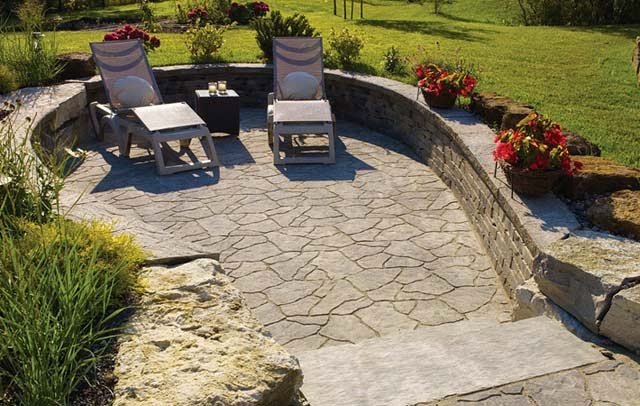 crushed stone patio pictures