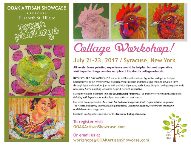 Elizabeth St. Hilaire Paper Paintings Workshop