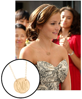 Single Initial Necklace Inset with Photo of Leighton Meester