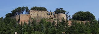 The walls of the Rocca Borgesca remain intact
