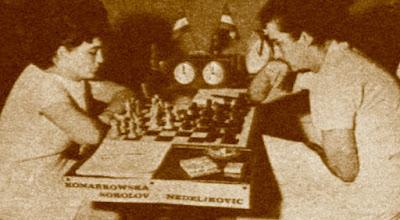 VI Torneo Zonal Femenino del Oeste de Europa, partida de ajedrez Henrijeta Konarkowska Sokolov - Verica Jovanovic de Nedeljkowic