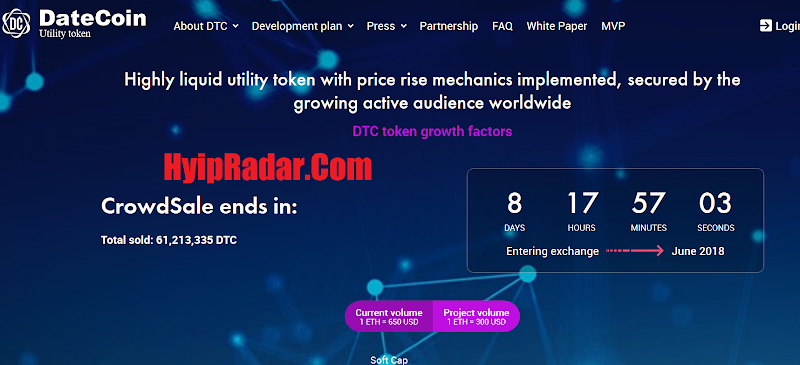 Review ICO DateCoin [DTC] - Start 30, Mar 2018