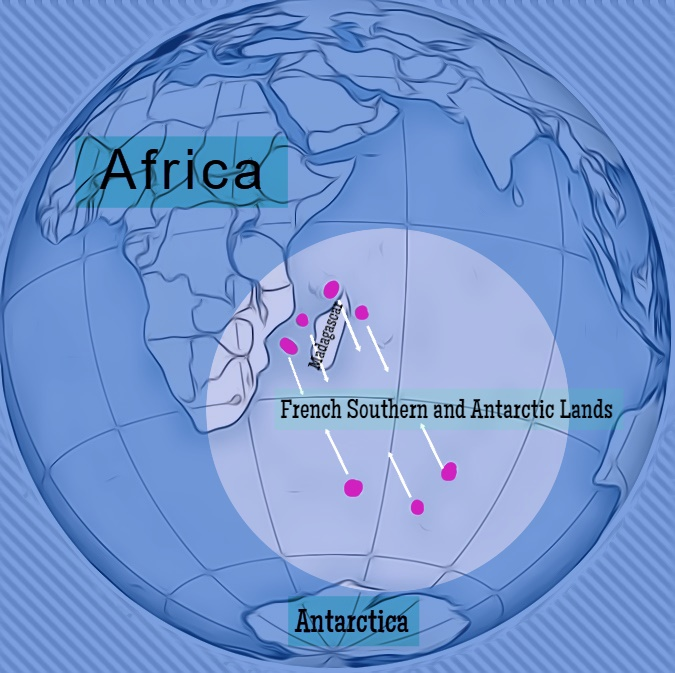Adelie Land is a small portion of the Antarctic continent and a one of two external dependent territories of Africa.