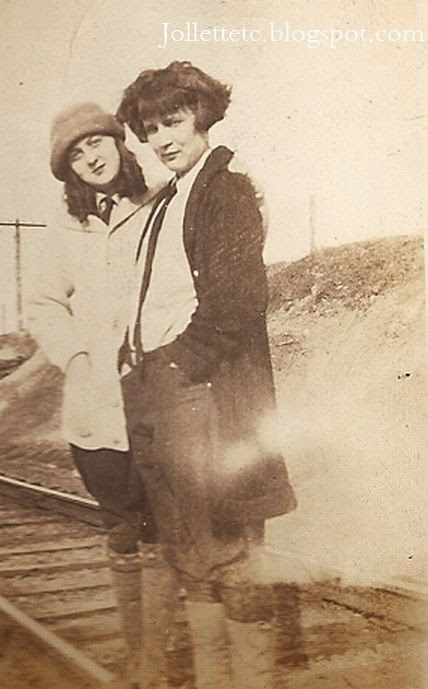 Unknown and Thelma Hockman 1924