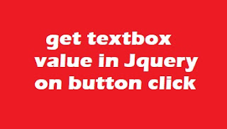 Get textbox value in jquery on button click asp.net and Html