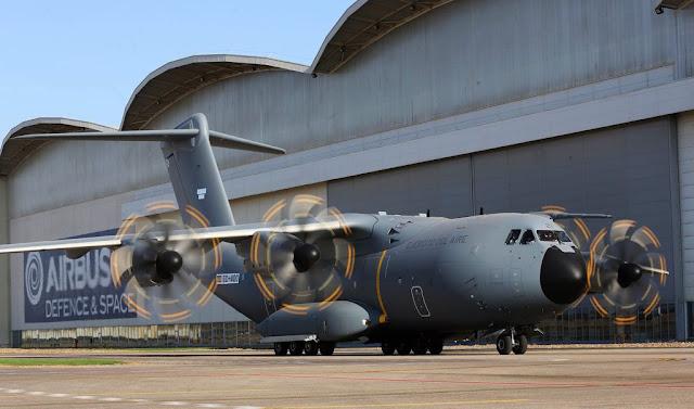 El primer A400M para España ya opera con sus propios motores en tierra