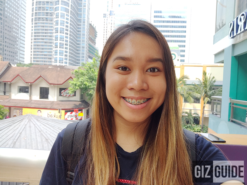 OnePlus 6 daylight selfie