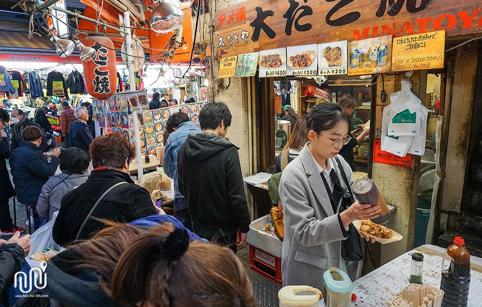 ร้านทาโกะยากิ ตลาดอะเมโยโกะ(Ameyoko)