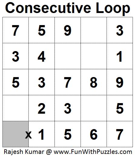 Consecutive Loop (Mini Puzzles Series #26)