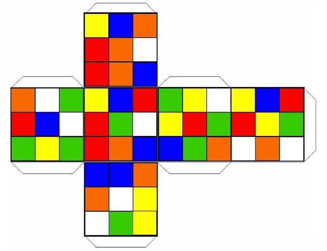 Rubik's Cube Printable Party Favor Box