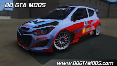 Hyundai i20 WRC 2013 + Paintjobs para, for, GTA San Andreas
