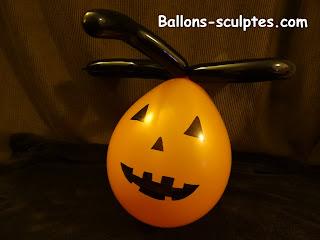 citrouille d'Halloween en ballons