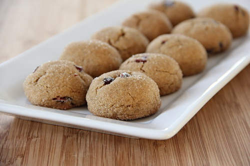 Cranberry Molasses Cookies from Baked by Rachel on @KatrinasKitchen