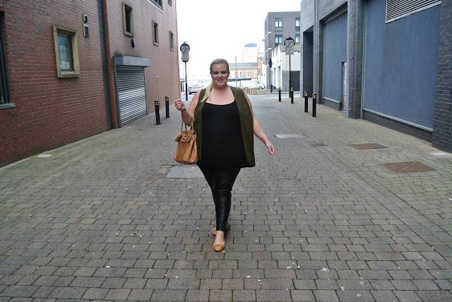 Simply Be Plus Size Blogger Dark Olive Sleeveless Kimono