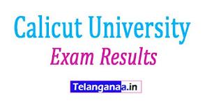 Calicut University Exam Results 2017