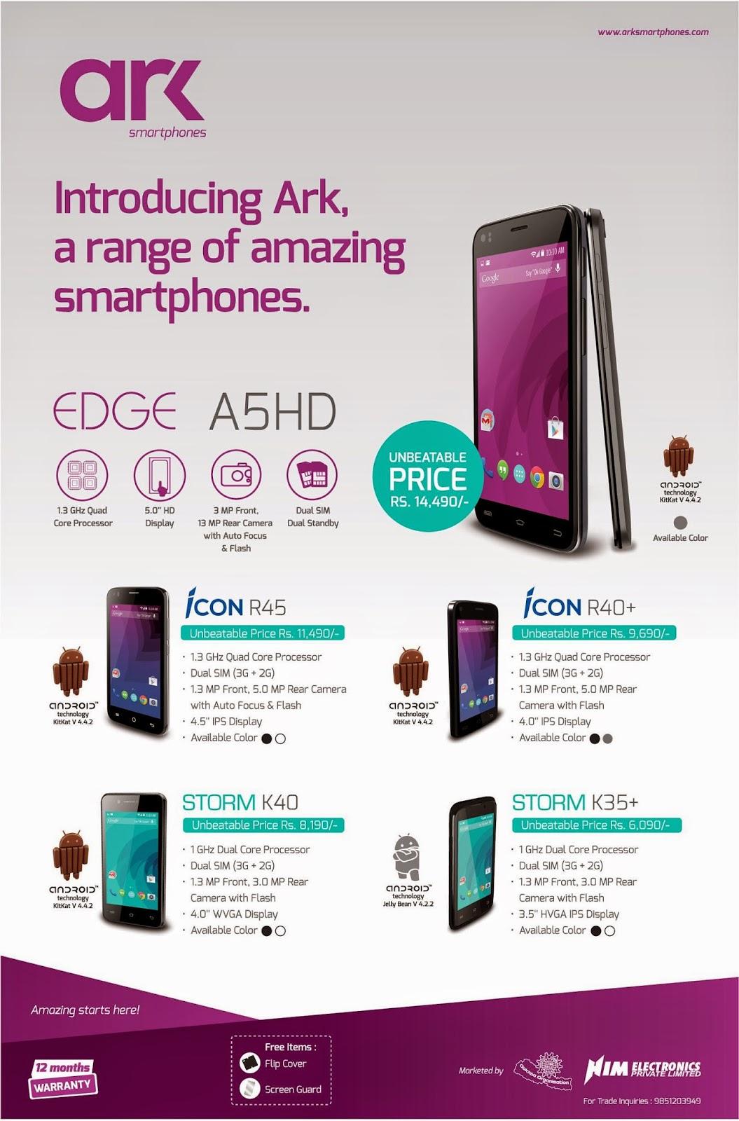 ark nepali brand mobile