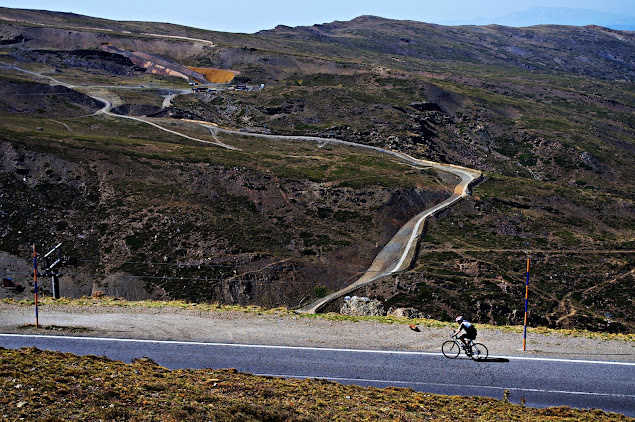 Great Climbs cycling Andalucia's highest point, Sierra Nevada and Pico Veleta