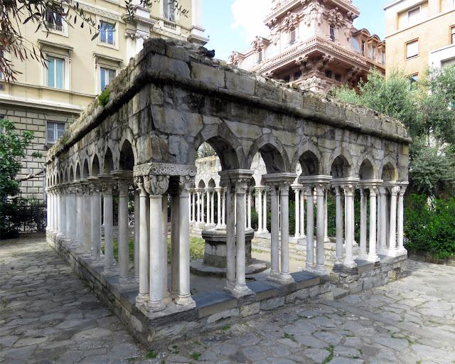 Chiostro di Sant'Andrea, Cloister of St Andrew, Vico Dritto di Ponticello, Genoa